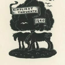 228 Christmas Card (Kindliest Thoughts) 1940