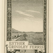 229 Bookplate: Esther Grindley Ferris 1941