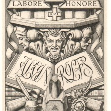 247 Bookplate for Professor Alvin Rolfs 1945